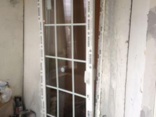 Балконная дверь с раскладкой и двухсторонней ручкой на Нагатинской набережной.
