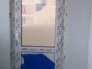 Закончены работы, остекление балкона и балконная дверь профиль Rehau.