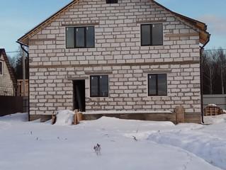 Установка окон с внешней ламинацией в д. Ожигово