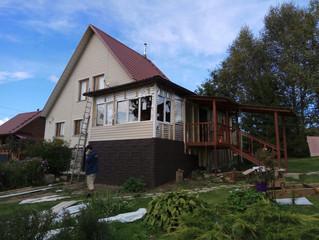 Окна для террасы в загородном доме