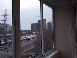 Установка окон и отделка балкона г. Москва, Балаклавский проспект