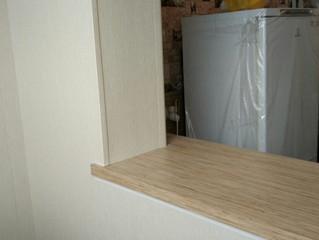 Остекление балкона. Продление кухни.