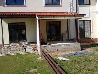 Первый этап работ (входные двери) Rehau в Красногорском р-не, поселок Александровский.