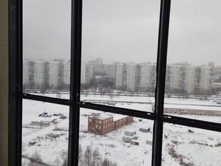 Производственная улица. Панорамное окно.