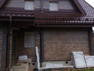 Монтаж окон в загородном доме в Наро-Фоминском районе (часть 1)