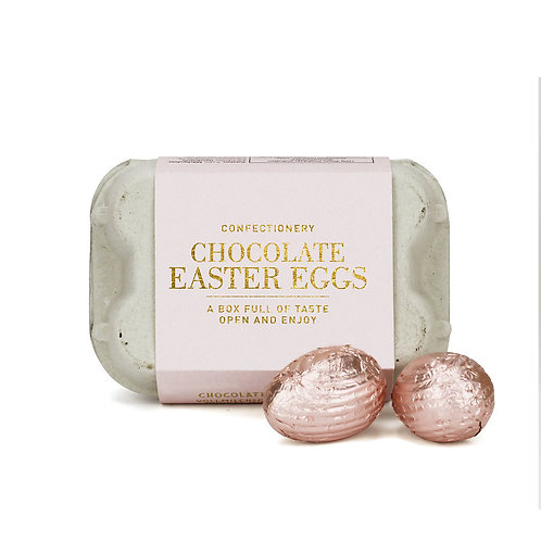MILK CHOCOLATE EGGS ROSE/GOLD BOX