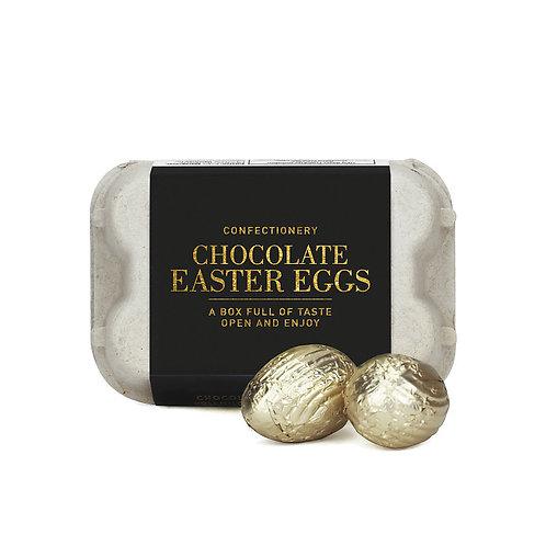MILK CHOCOLATE EGGS BLACK/GOLD BOX