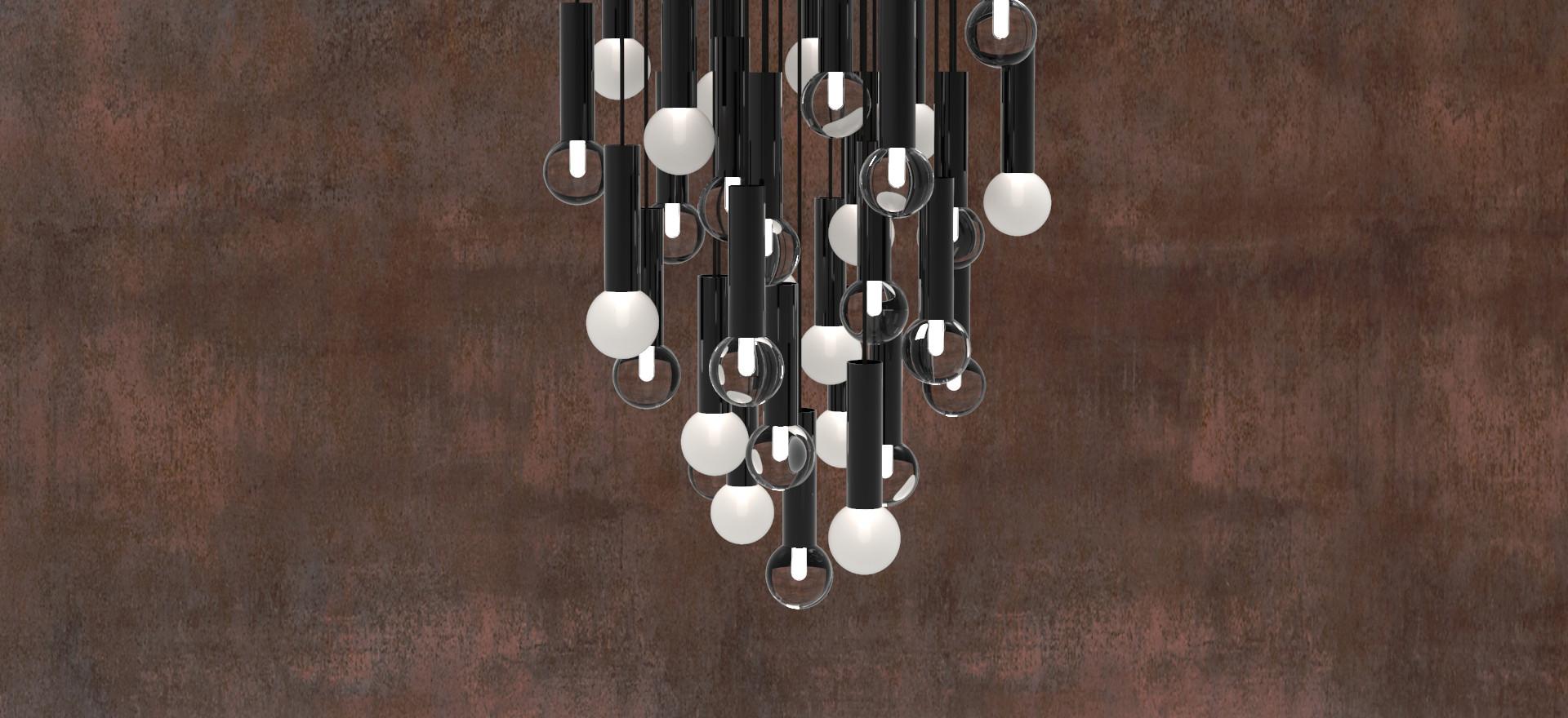 Lighting-Contrast Ratio-Kitchen Chandeli
