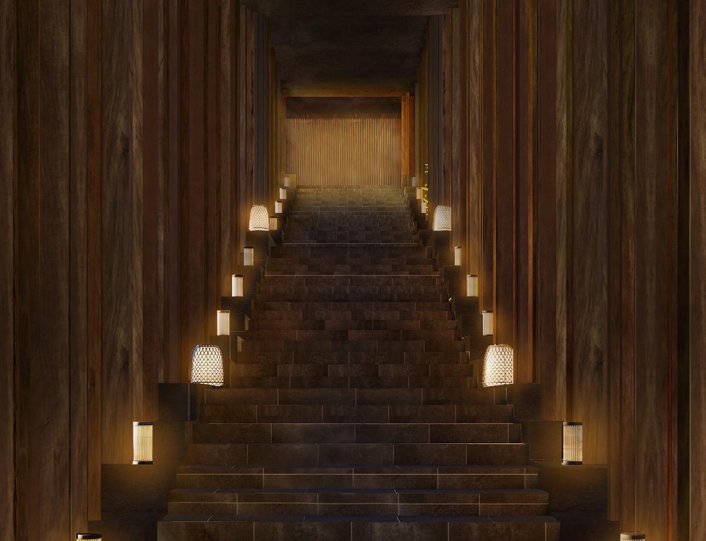 Lighting-Contrast Ratio-Entrance Stairca