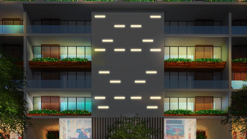Lighting-Contrast Ratio-Facade Lighting-