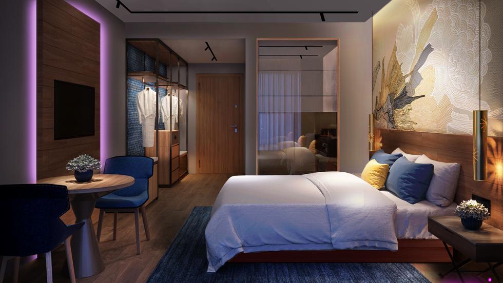 Lighting-Contrast Ratio-Guest Room Light