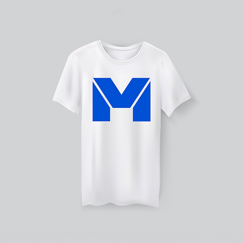 Vet Muscle T-Shirt Wht/Blue Logo
