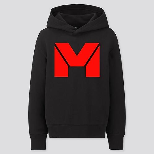 Vet Muscle Hoodie Blk/Red Logo