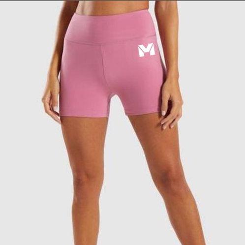 Vet Muscle Women Biker Shot Pink/Wht Logo