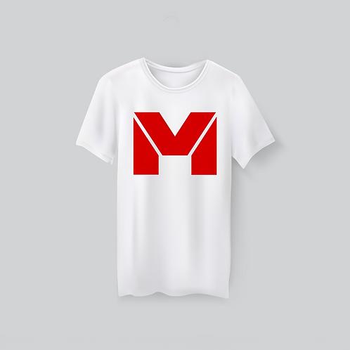 Vet Muscle T-Shirt Wht/RedLogo