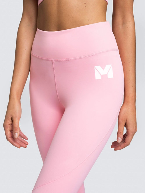 Vet Muscle Women's Leggings Pink/Wht Logo