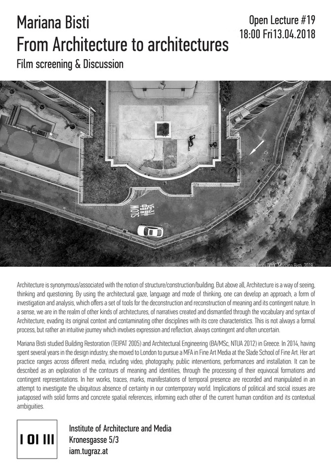 Open Lecture | Institute of Architecture and Media, University of Graz, Austria