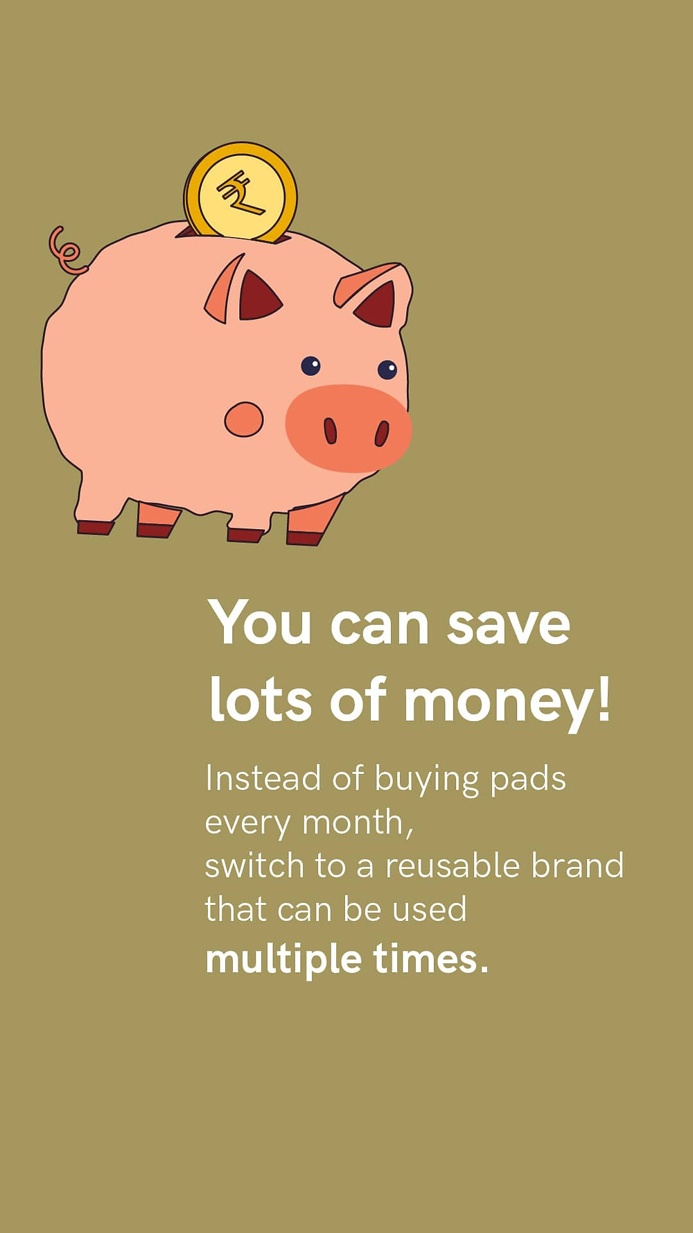 Save money by choosing reusable pads