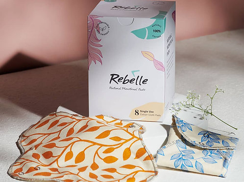 Rebelle (Pack of 8) Biodegradable Single Use Pads