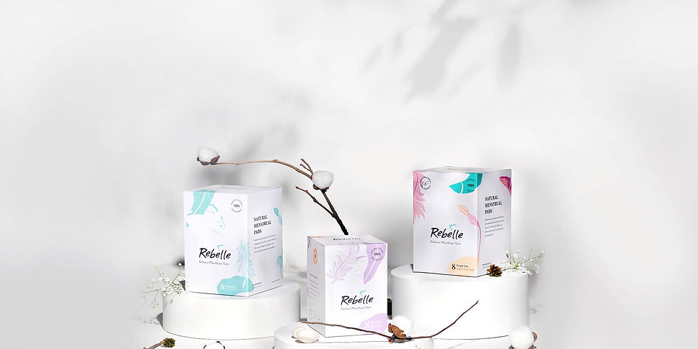Rebelle sanitary pads packaging