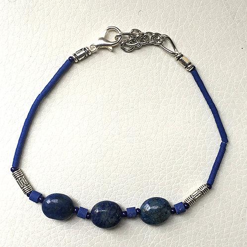"Bita Deep Blue Bead 7"" Bracelet"
