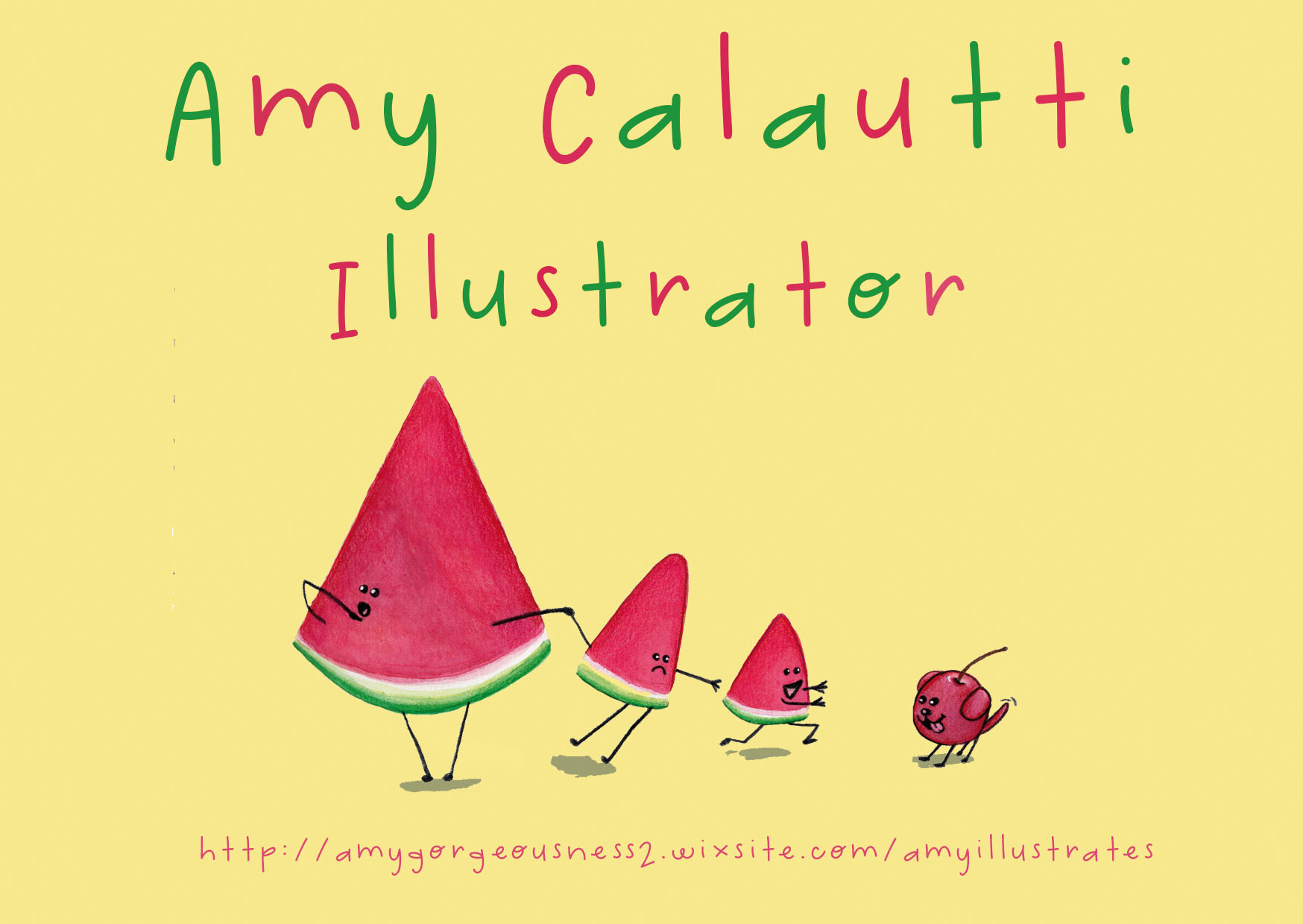 illustrator postcard