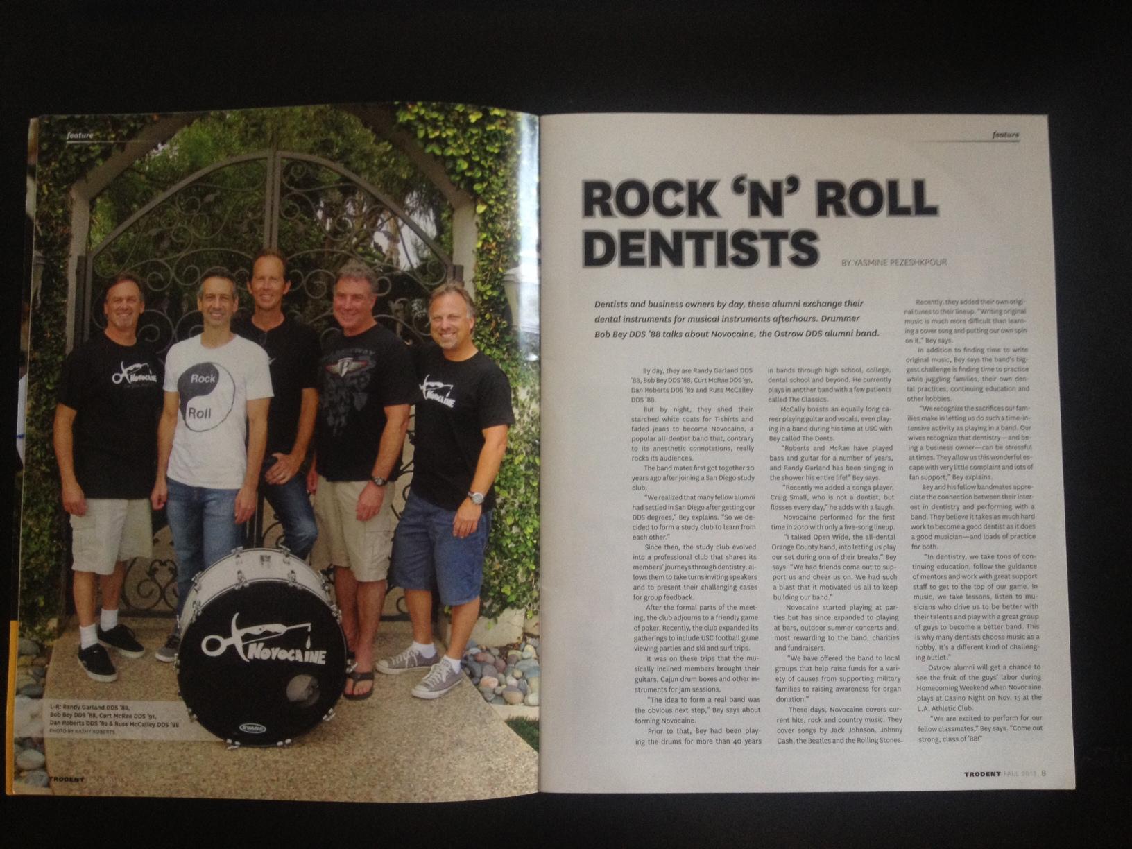 Novocaine Bio in print.