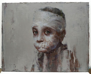A Syrian Boy, Oil on Canvas, 91X72.5cm, 2019
