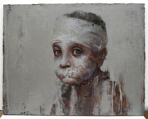 A Syrian Boy, Oil on Canvas, 91X72.5cm, 2019