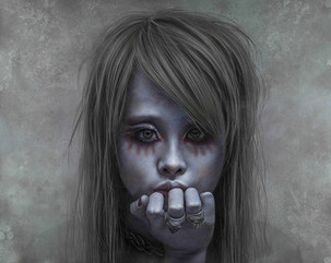 Ashen face 27-Girl with a skull ring2