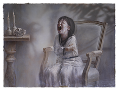 Screaming pope,Oil on canvas, Oil on canvas,130X97cm,2019