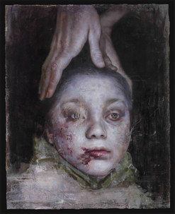Ashen boy from Syria, 91X72cm