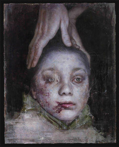 Ashen boy from Syria, 91X72cm