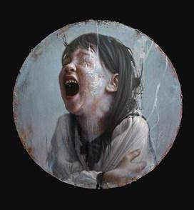 Skrik(norsk)Oil on canvas, Φ68cm,2019