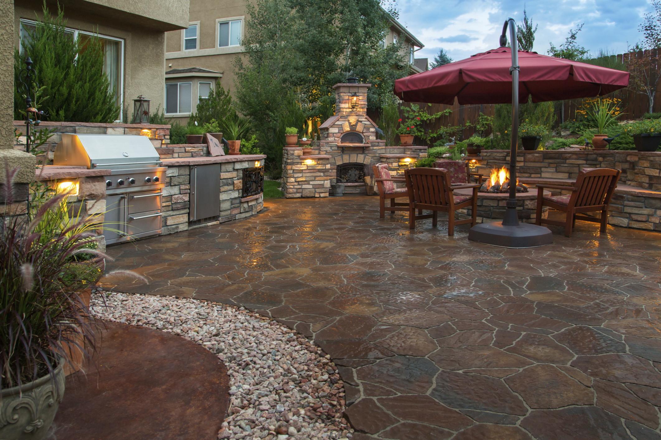 Outdoor Living with Kitchen
