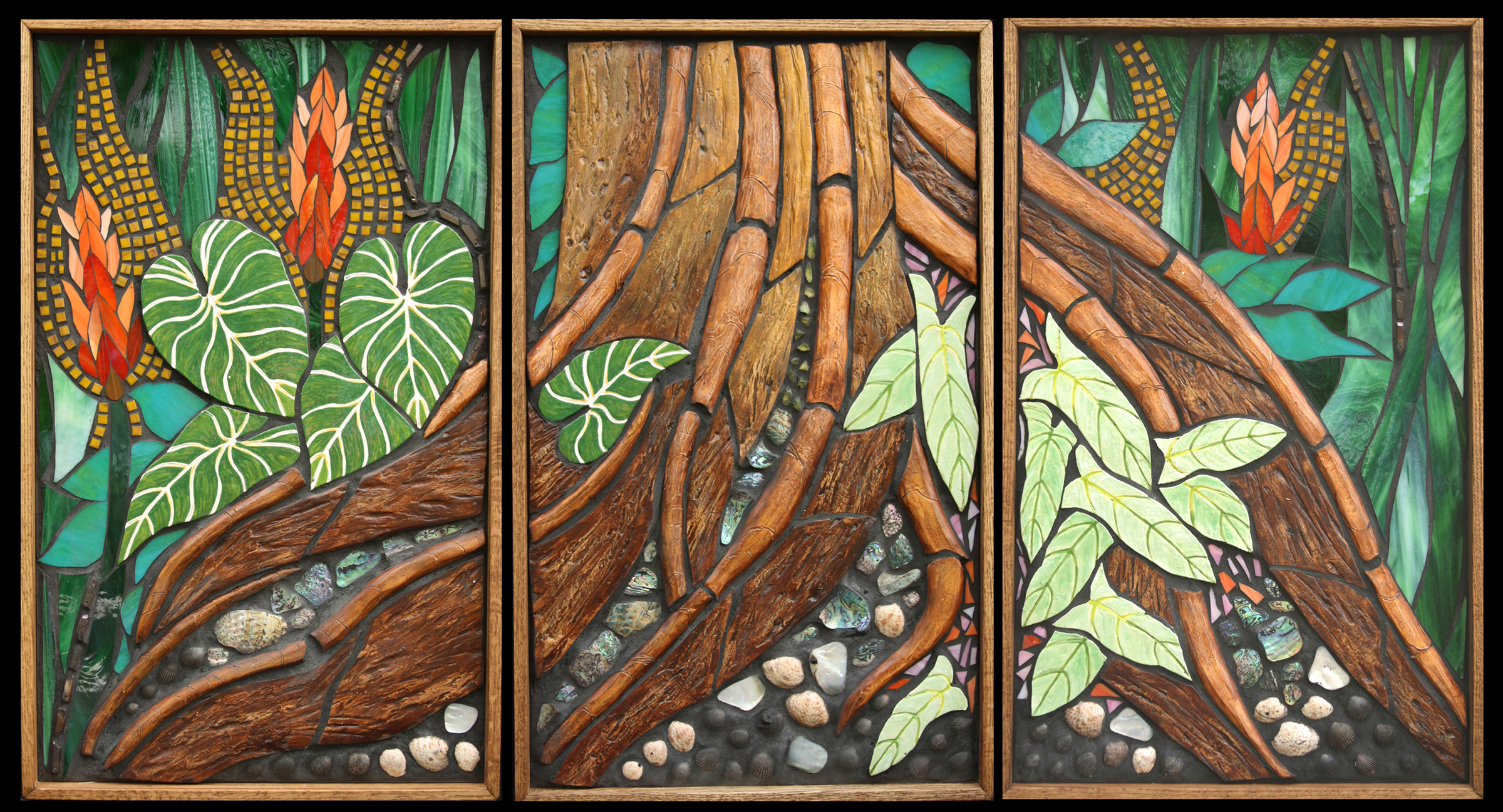 Roots Triptych $2400 Sold!