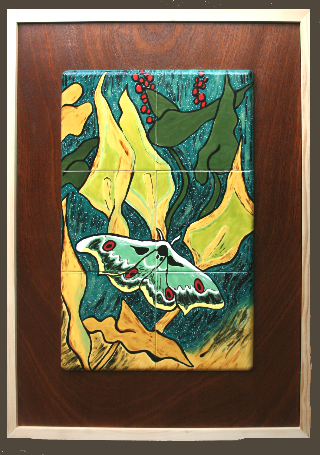 Ode to Van Gogh's Peacock Moth  $600