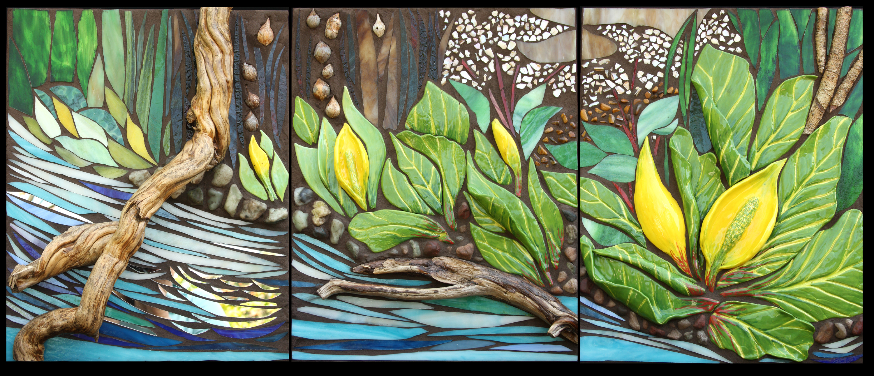Skunk Cabbage by the Stream $2700  Sold!