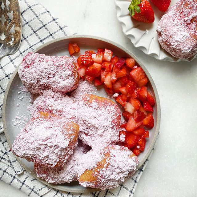 Strawberry Beignets