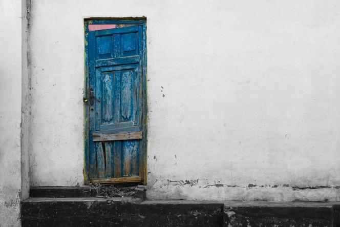 W W Blue Door