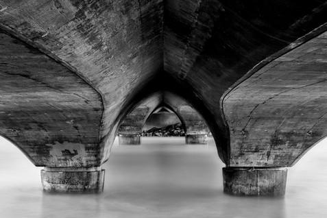 Beneath the Lagoon Bridge