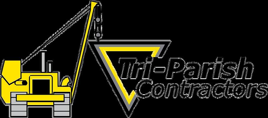 Tri-Parish logo with side boom