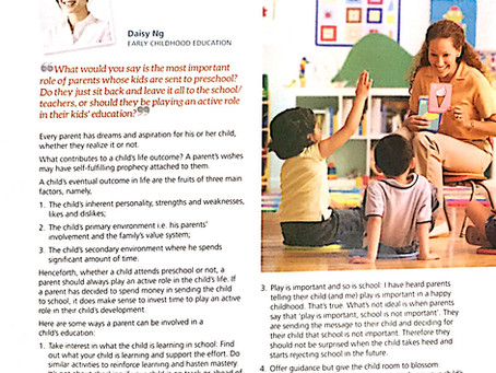 Feature: 'Ask Our Experts - Parent's Role in their Kid's Education'
