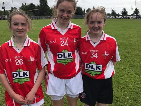 Our pupils playing with Louth U12 Girls