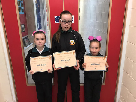 Pupils with Full Attendance awards 2016-2017