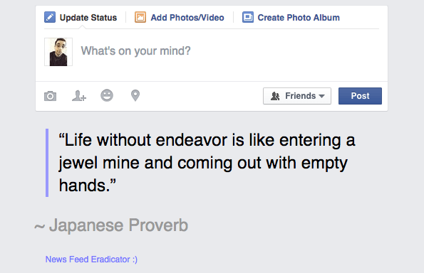 News Feed Eradicator Google Chrome