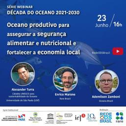 Oceano produtivo para assegurar a segurança alimentar e nutricional e fortalecer a economia local