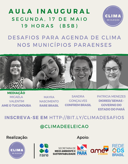 Desafios para agenda de clima nos municípios paraenses
