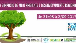 V Simpósio de Meio Ambiente e Desenvolvimento Regional