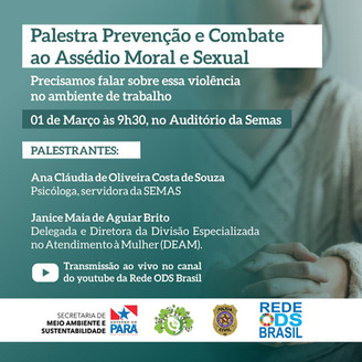 Prevenção e Combate ao Assédio Moral e Sexual